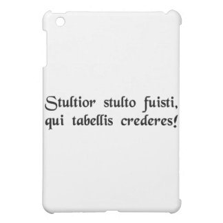 Idiot of idiots, to trust what is written! iPad mini covers