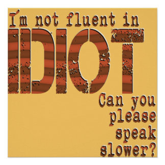 Idiot - Poster