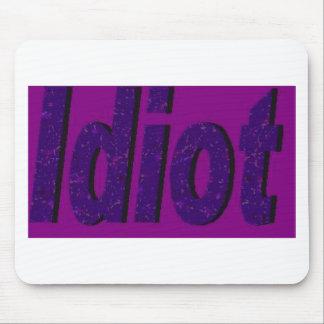 idiot purple mouse pad