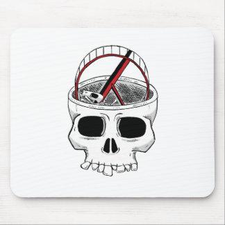 Idiot skull mousepads