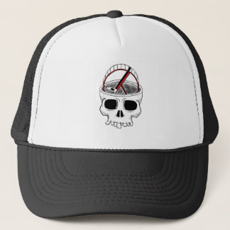 Idiot skull trucker hat