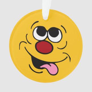 Idiot Smiley Face Grumpey Ornament