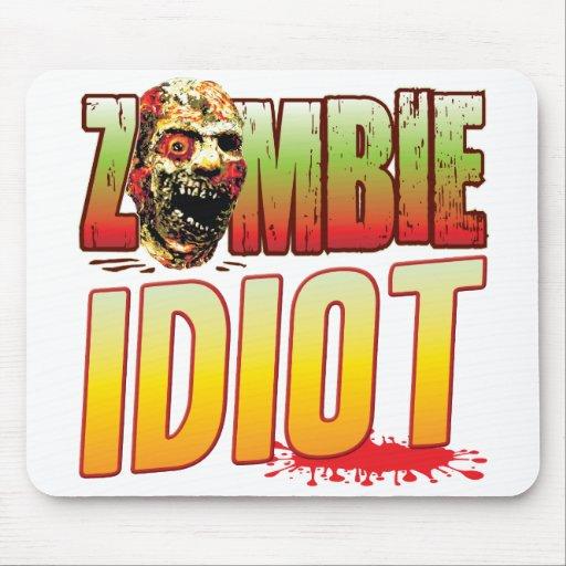 Idiot Zombie Head Mousepad