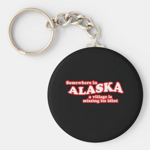 Idiota de Alaska del pueblo Llaveros