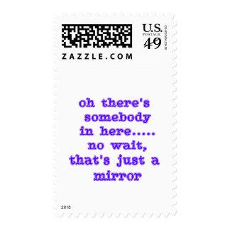 Idiota del espejo sello