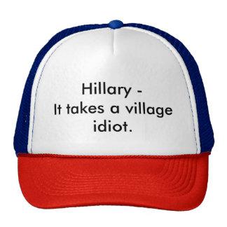 Idiota del pueblo gorras