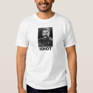 Idiota: Joseph Stalin Playeras