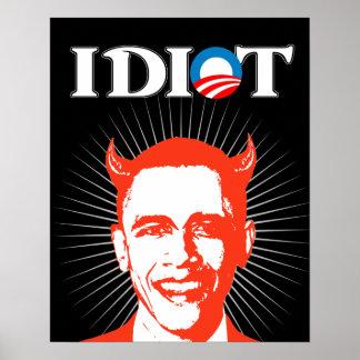 Idiota Obama Póster