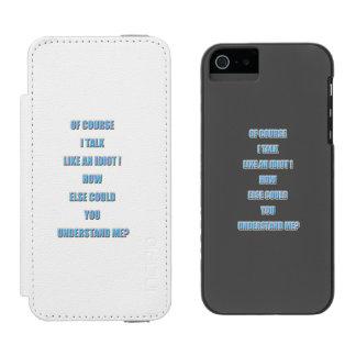 Idiota Funda Cartera Para iPhone 5 Watson