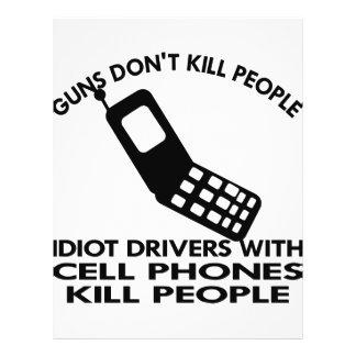 Idiotas con la gente de la matanza de los teléfono flyer a todo color
