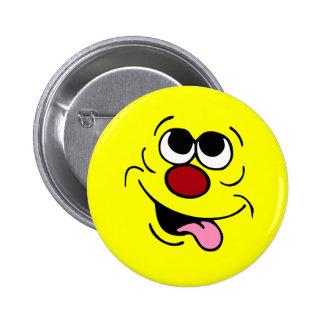Idiotic Smiley Face Grumpey Button