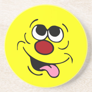 Idiotic Smiley Face Grumpey Coaster