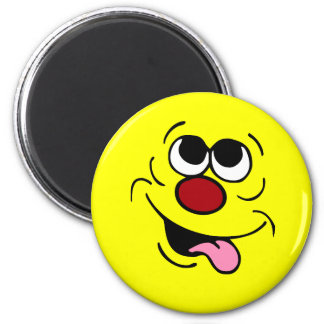 Idiotic Smiley Face Grumpey Magnet