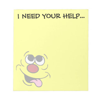 Idiotic Smiley Face Grumpey Notepad
