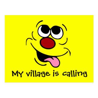 Idiotic Smiley Face Grumpey Postcard