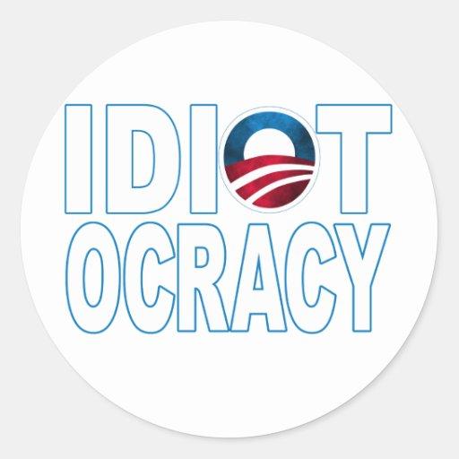 IDIOTOCRACY: Anti-Democrats Merchandise Stickers