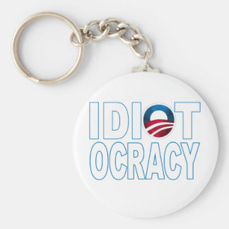 IDIOTOCRACY: Mercancía de Anti-Demócratas Llaveros Personalizados
