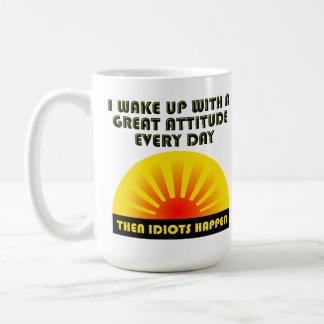 Idiots Happen Funny Mug