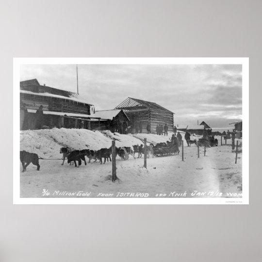 Iditarod Alaska Birdseye 1914 Poster
