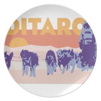 Iditarod Race Melamine Plate