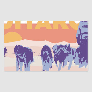 Iditarod Race Rectangular Sticker
