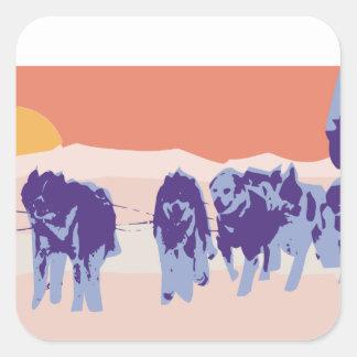 Iditarod Square Sticker