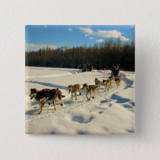 Iditarod Trail Sled Dog Race Button