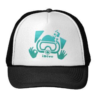 iDive OK Aquamarine Scuba Original Trucker Hat