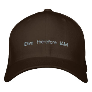 iDive therefore iAM Embroidered Baseball Cap