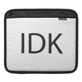 IDK MANGAS DE iPad