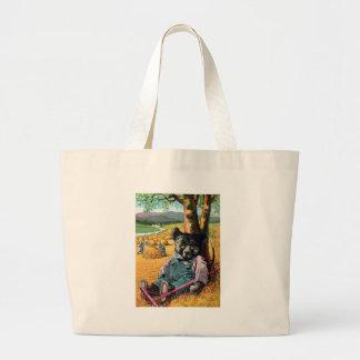 Idle Bear Ike - Letter I - Vintage Teddy Bear Tote Bags