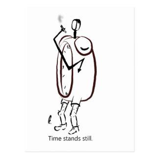 Idle Clock Postcard