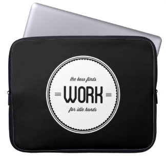 Idle Hands Office Humor Laptop Bag