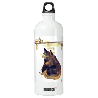 Idle Mouser - a cat named Terrance Aluminum Water Bottle