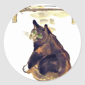 Idle Mouser - a cat named Terrance Classic Round Sticker