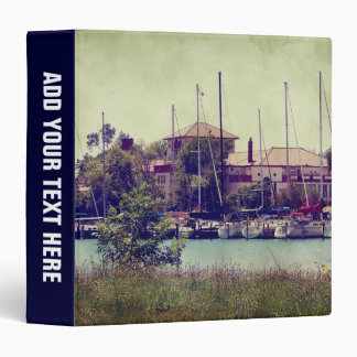 Idle Sailboats 3 Ring Binder