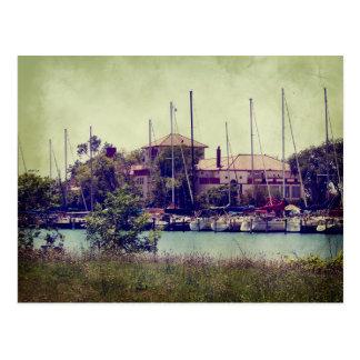 Idle Sailboats Postcard
