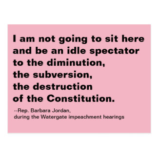 Idle Spectator to Destruction of the Constitution Postcard