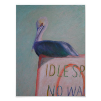 IDLE SPEED NO WAKE Poster