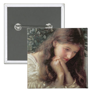 Idle Tears (w/c on paper) 2 Inch Square Button