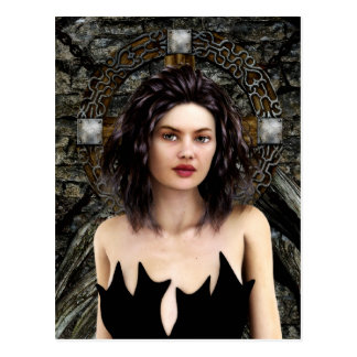 Idle Thoughts Gothic Artwork Postcard