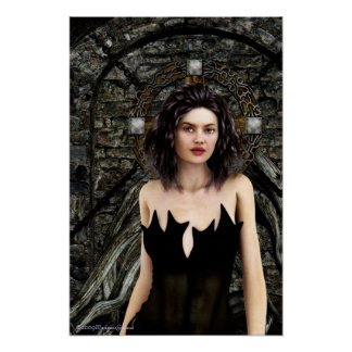 Idle Thoughts Gothic Artwork Poster