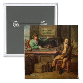 Idleness, 1818 2 inch square button