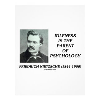 Idleness Is The Parent Of Psychology Personalized Letterhead