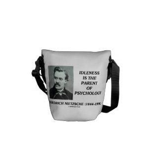 Idleness Is The Parent Of Psychology Nietzsche Messenger Bag
