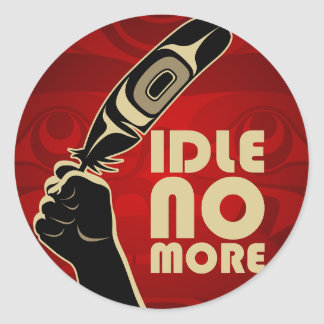 IdleNoMore Classic Round Sticker
