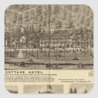 Idlewood Cottage Hotel near Pittsburgh Square Sticker