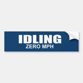 IDLING - ZERO MPH BUMPER STICKER