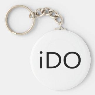 IDo Basic Round Button Keychain