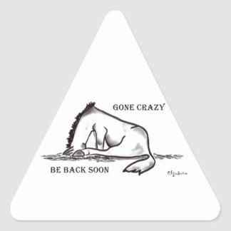 Ido loco pegatina triangular